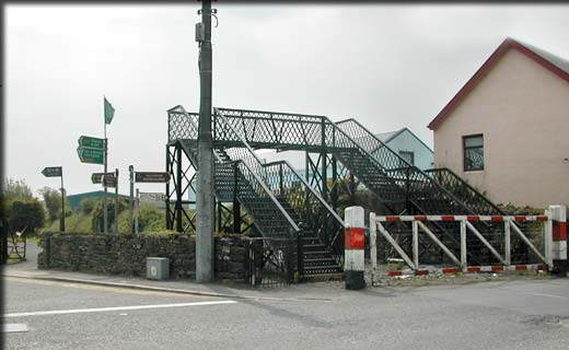 FAS community employment scheme in Claremorris showing railway crossing James Street.
